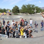 Product toss 702 boardshop contest at Indian Hills skatepark