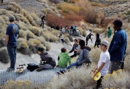 Down View of the 395 Ditch Destruction Derby where a grip of people came out.. photo Volland