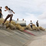 Mitch Haight locks into a tailslide before 360 shuv'n out..