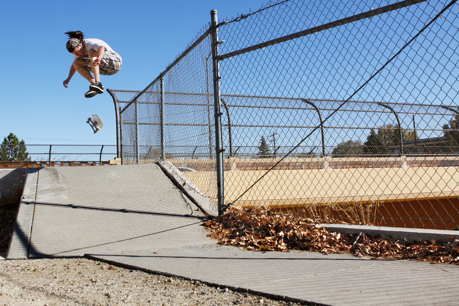 Shane Stephens double kickflip photo Volland