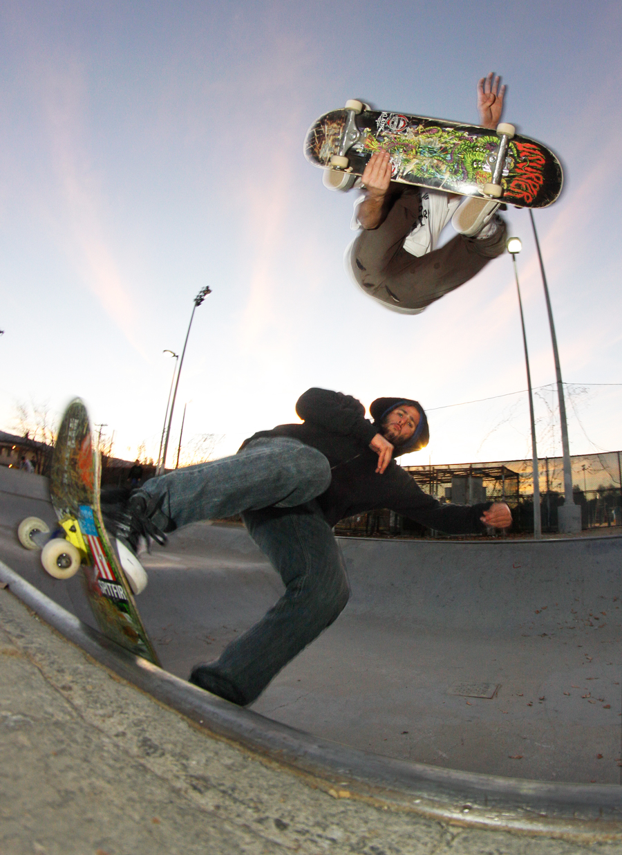 Double trouble Mitch Haight stale fish over Chris Deande photo Volland