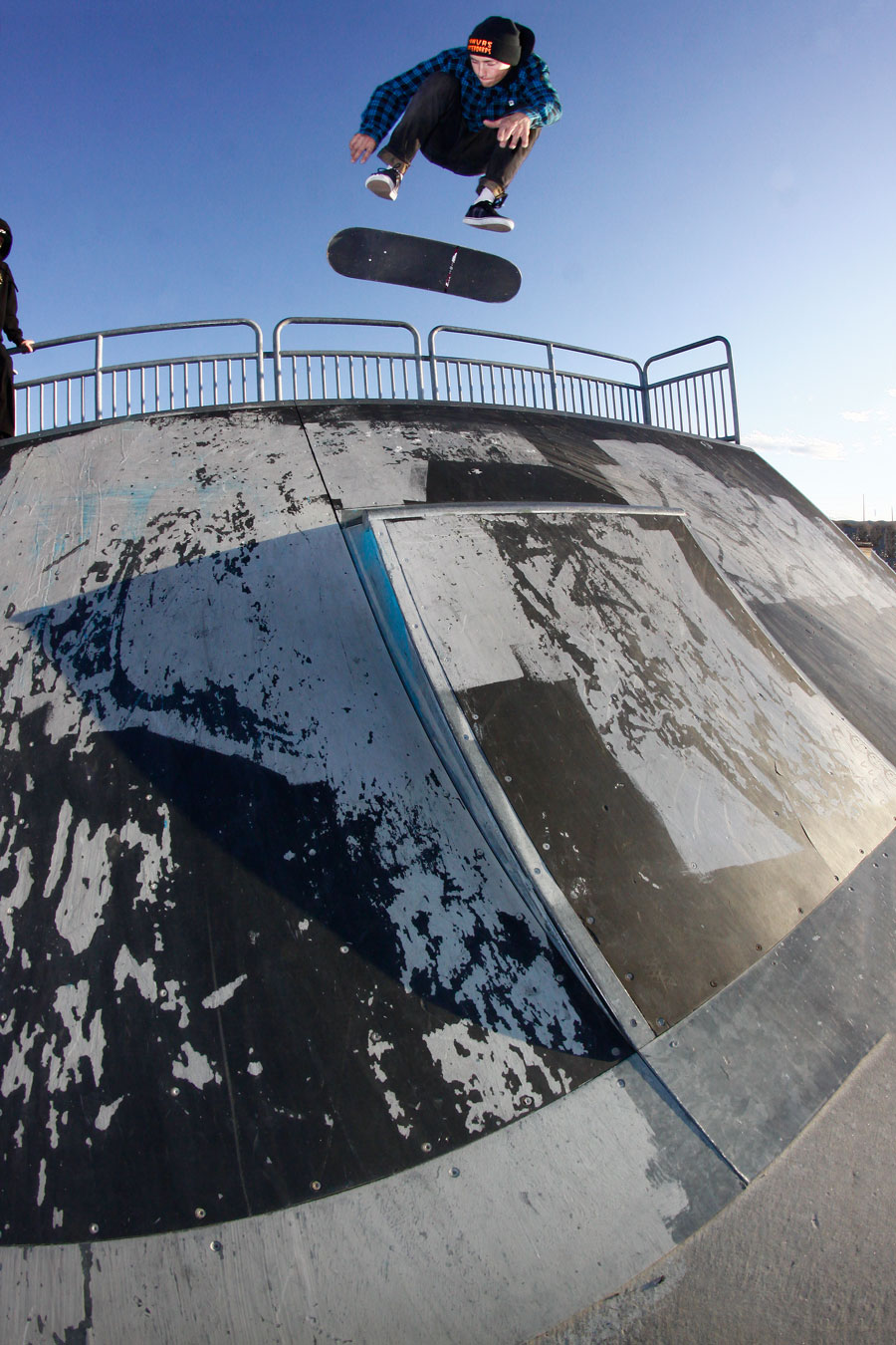 DePaul Madigan kickflip at Panther Vallley park Photo Volland