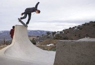 Jordan Mullen BS lip on the tombstone in his backyard Hoodward photo Volland